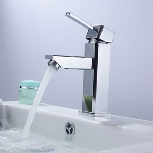 Simple Designed Thick Single Handle Bathroom Sink Faucet