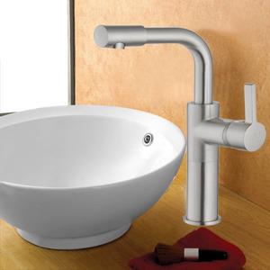 High End Polished Nickel Vessel Mount Bathroom Sink Faucet