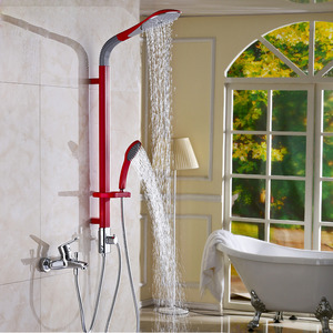 Fashion Red Copper Screen Shower Faucet System