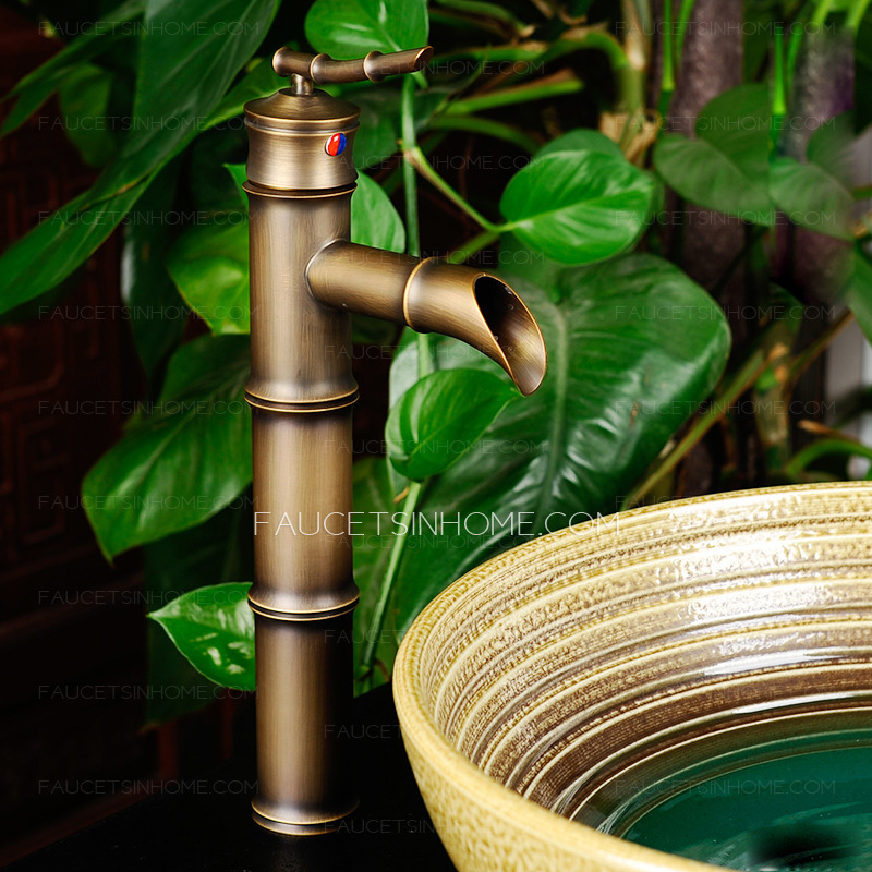 Designed Chinese Style Tall Bathroom Faucet Of Bamboo Shaped