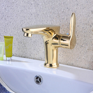 Luxury Golden Chrome Copper Bathroom Sink Faucet