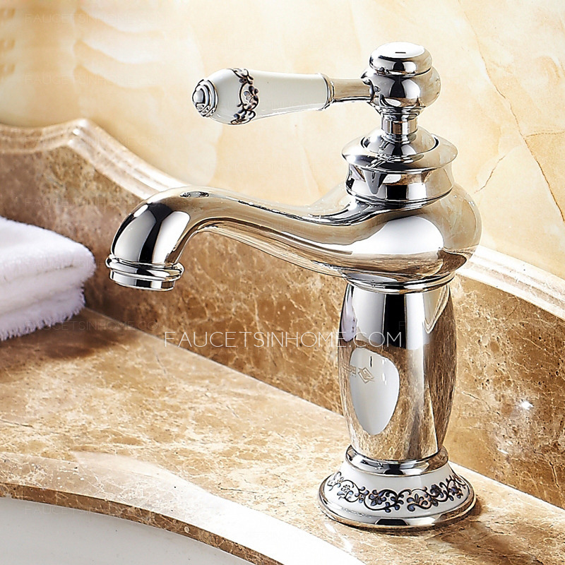 Bathroom Sink Faucets Cheap: Discount Vintage Chrome Copper Bathroom Sink Faucet