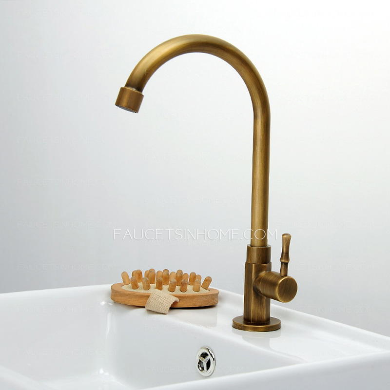 ... Sink Faucets > Cheap Antique Brass Tall Rotatable Bathroom Sink Faucet