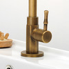 Cheap Antique Brass Tall Rotatable Bathroom Sink Faucet