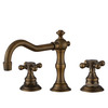 Vintage Antique Bronze Three Hole Bathroom Sink Faucet