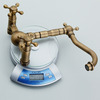 Vintage Antique Brass Rotatable Wall Mount Bathroom Faucet
