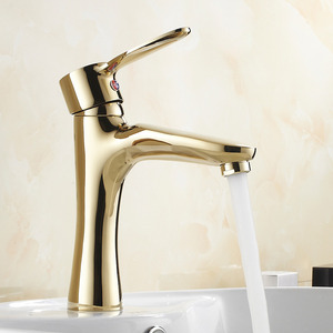 Cheap Antique Gold Copper Bathroom Sink Faucet