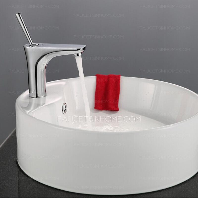 Modern Designed Silver Deck Mount Bathroom Sink Faucet