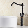 Vintage Oil Rubbed Bronze Black Bathroom Basin Faucet