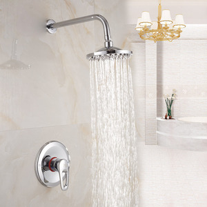 Simple Concealed Wall Mount Super Top Shower Faucet