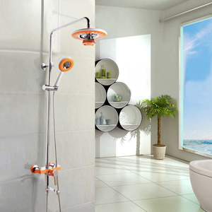 High End Orange Bluetooth Music Copper Shower Faucet