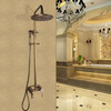 Antique Copper Shower Faucet System With Hand Held Shower