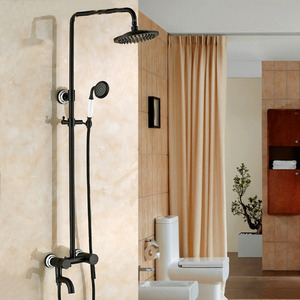 Antique Black Oil Rubbed Bronze Shower Faucet System