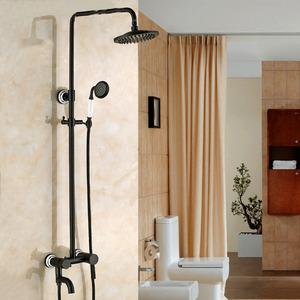 Antique Black Oil Rubbed Bronze Shower Faucet System