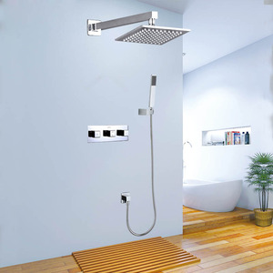 High End Slim Top Shower Concealed Wall Mount Shower Faucet