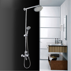 Modern Silver Third Gear Outdoor Shower Faucet System