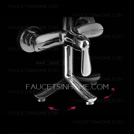 Designed Streamlined Top And Hand Shower Faucet System