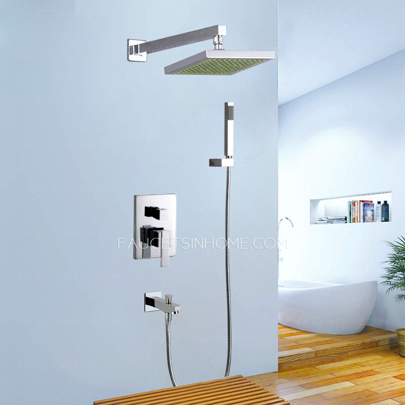 Modern Rain Water Concealed Wall Mount Shower Faucet System