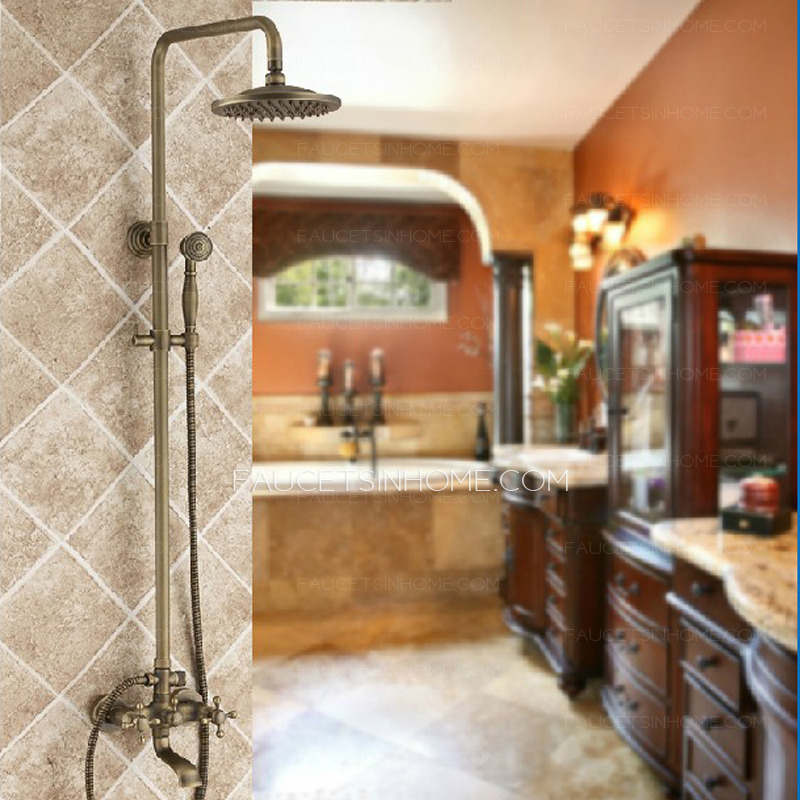 Vitage Antique Copper Phone Hand Shower System