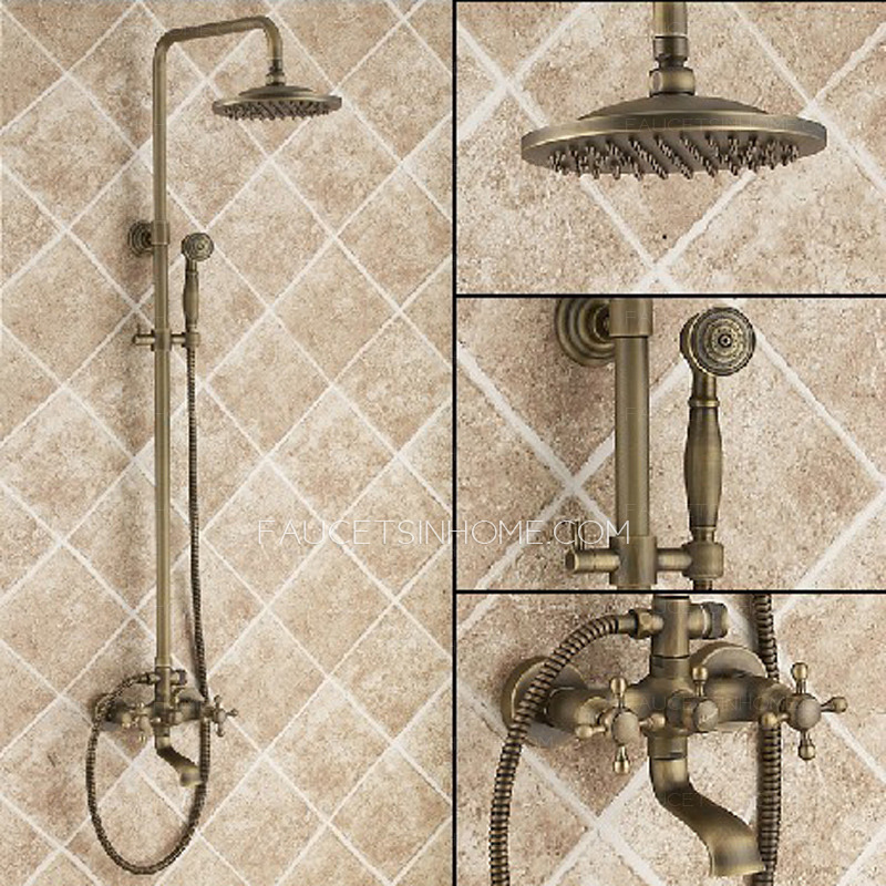 Antique Copper Phone Hand Shower SystemBeautiful One Piece Shower Faucet Ideas   3D house designs   veerle us. One Piece Shower Faucet. Home Design Ideas