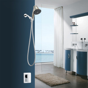 Modern Pressurized Concealed Wall Mount Shower Faucet