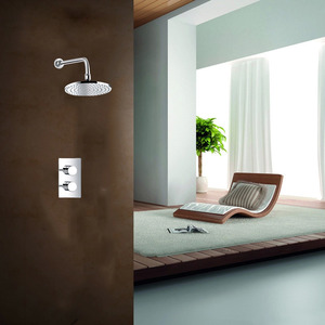 Modern Concealed Wall Mount Rain Shower Faucet System