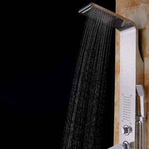 High End Waterfall Rain Stainless Steel Shower Screen System