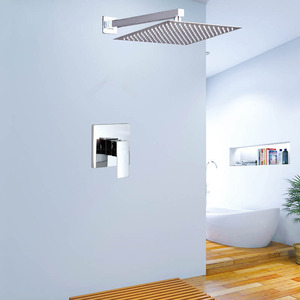 Modern 12inch Slim Top Shower Faucet Concealed Mount