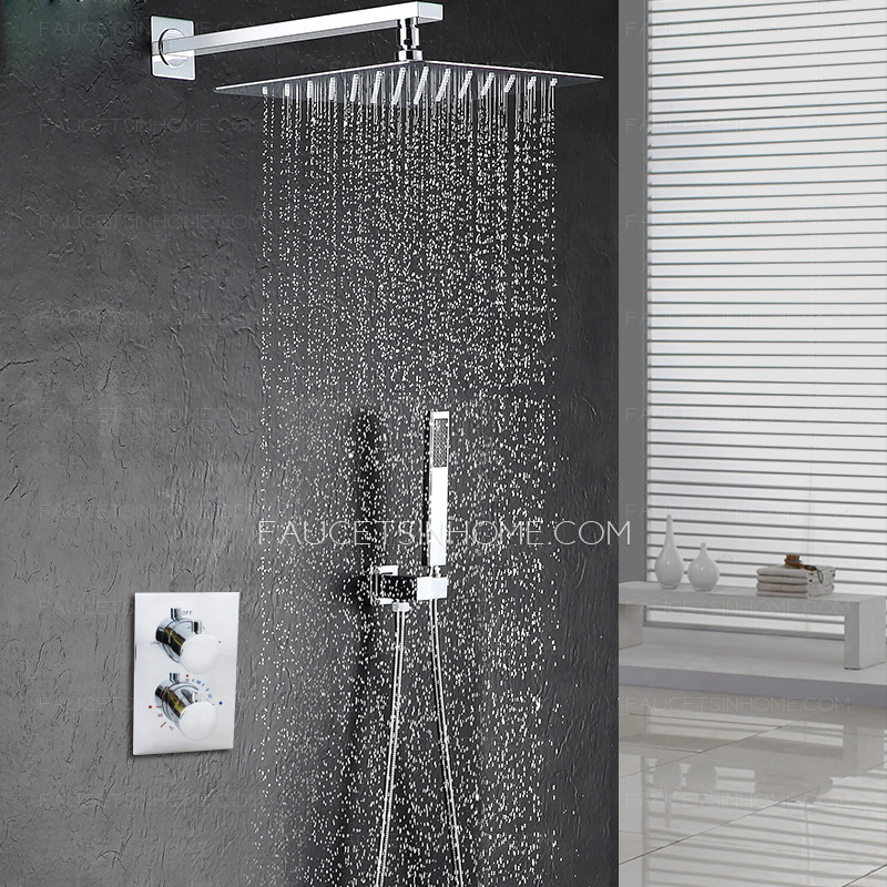 Modern 10 5inch Pressurized Slim Top Shower Faucet Concealed