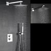 Modern 10.5inch Pressurized Slim Top Shower Faucet Concealed
