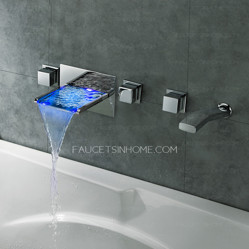 Home > Bathtub Faucets > High End Waterfall Wall Mount Bathtub Faucet ...