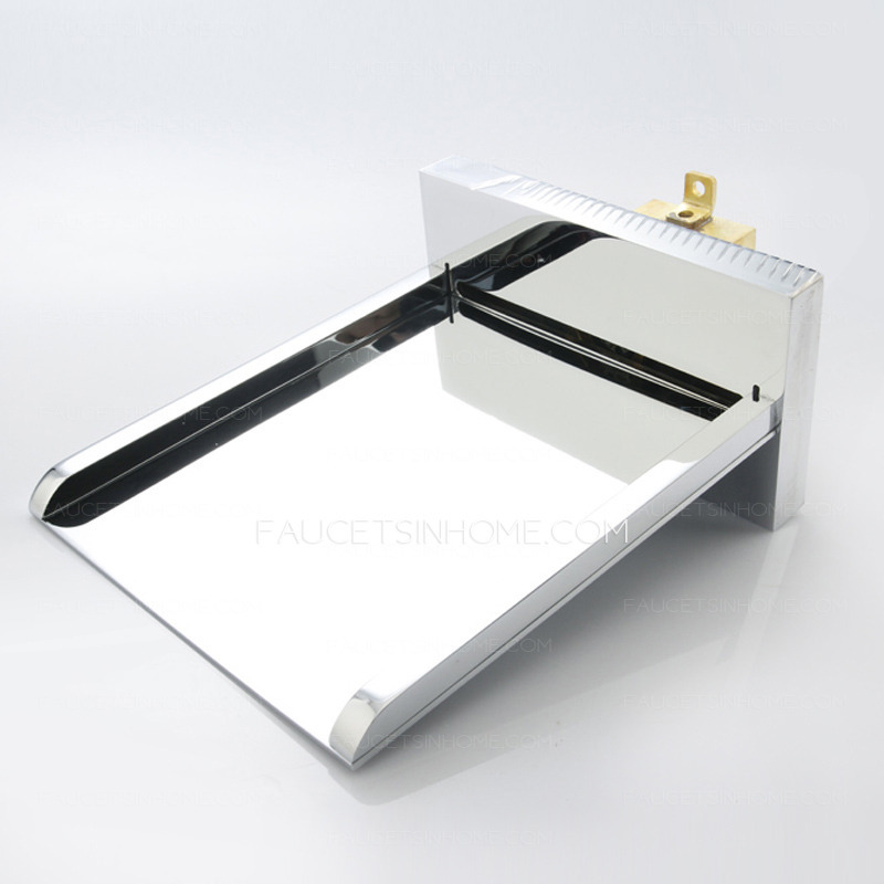 End Waterfall Wall Mount Bathtub Faucet With Hand Shower