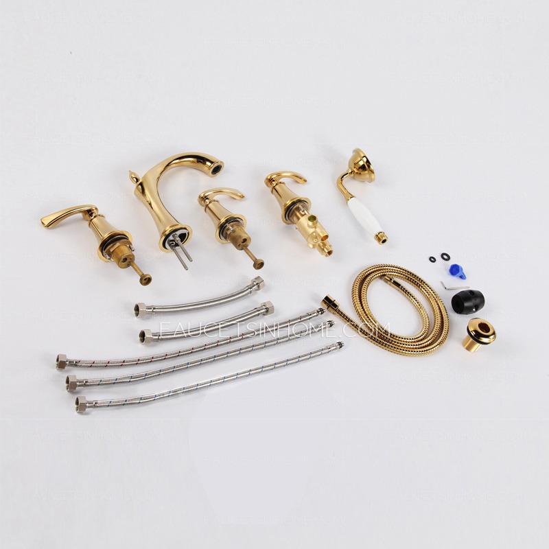 Bathtub Faucet Set New Arrival Rain Shower Faucets With Ceramic Mixer Tap Antique Brass Bath