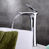 High End Copper Tall Vessel Waterfall Bathroom Sink Faucet