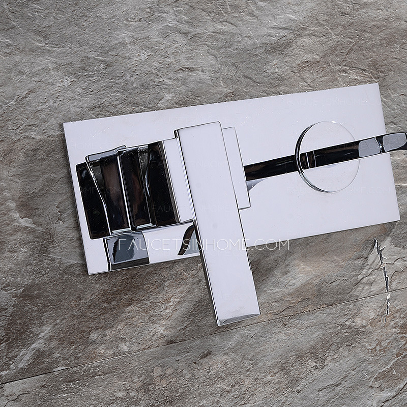 High End Waterfall Concealed Wall Mount Bathroom Faucet