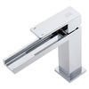 Cool Square Shaped Long Waterfall Spout Bathroom Sink Faucet