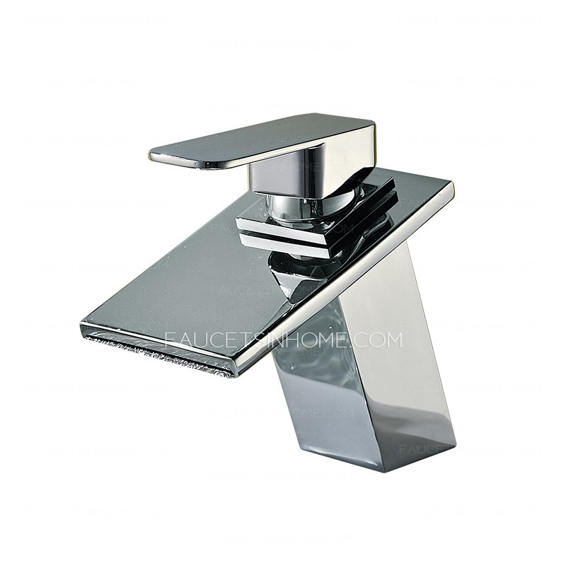 High end waterfall sloped square shaped bathroom sink faucet for High end bathroom sink