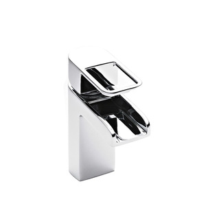 Modern Hollow Handle Square Shaped Waterfall Bathroom Faucet