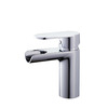 Modern Semicircle Shaped Hollowed Waterfall Bathroom Faucet