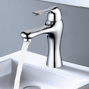 High End Streamlined Design Deck Mount Bathroom Faucet