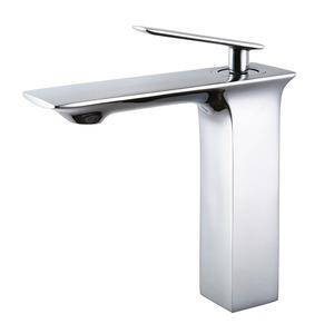 High End Copper Flat Designed Center Set Cool Bathroom Faucet