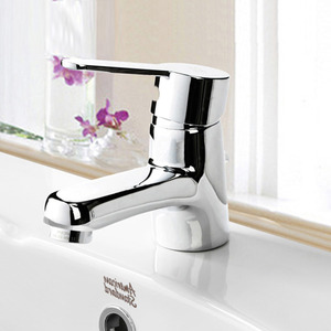 Simple Flat Single Handle Sink Faucet For Bathroom