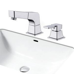 Modern Two Hole Split Style Pullout Spray Bathroom Faucet
