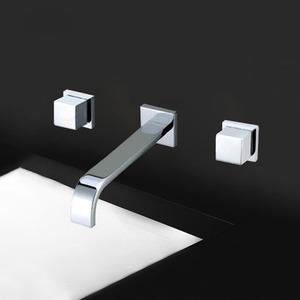 High End Concealed Wall Mount  Lengthen Spout Bathroom Faucet