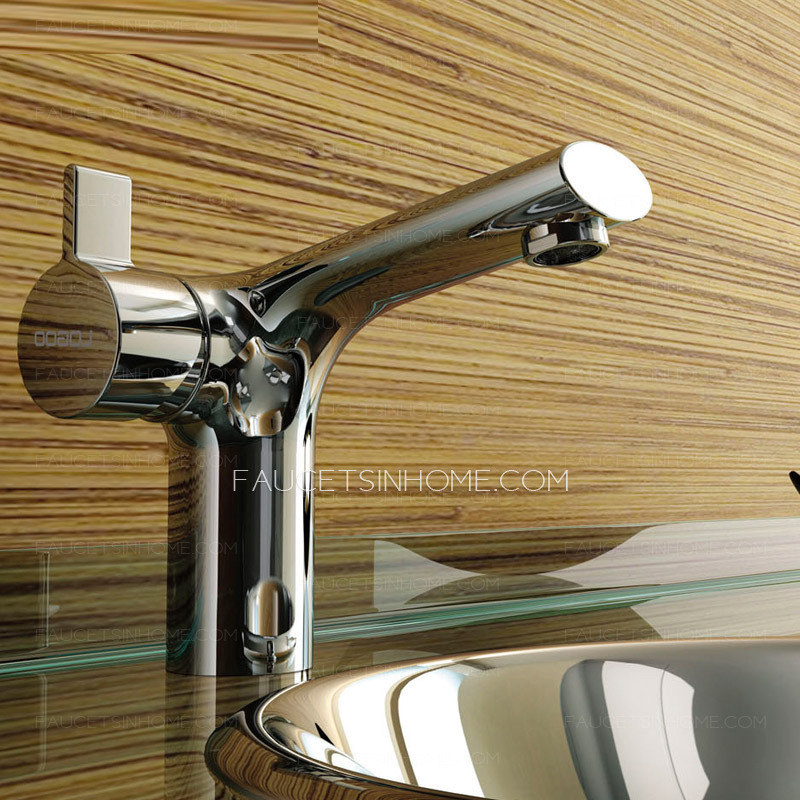 High end copper rotatable side handle radian cool bathroom for Cool bathroom sink faucets