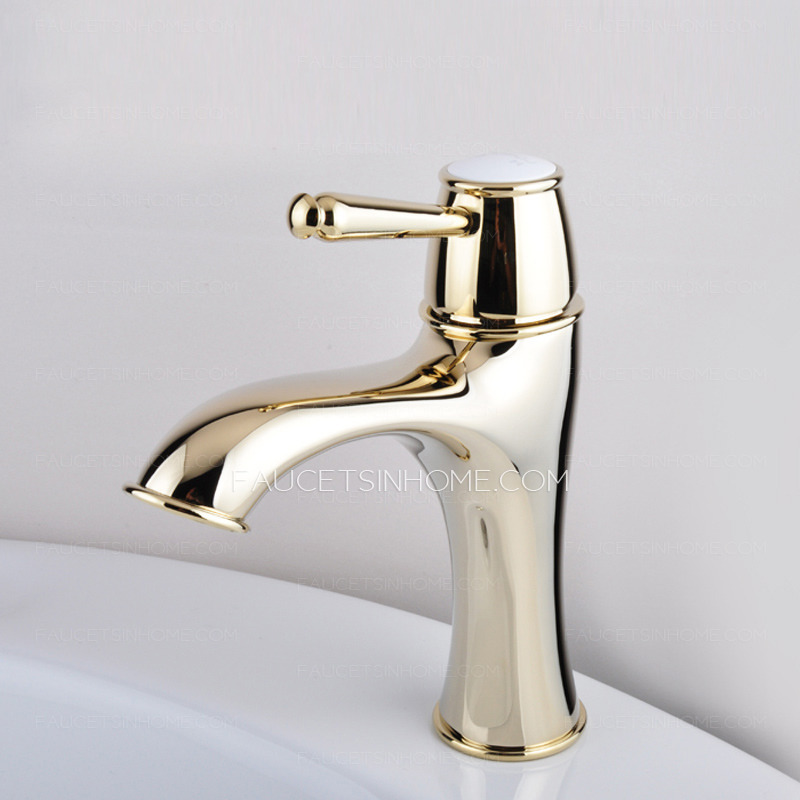 Bathroom Sink Faucets > Luxury Antique Gold Radian Designed Bathroom ...