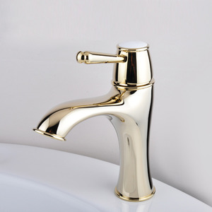 Luxury Antique Gold Radian Designed Bathroom Sink Faucet