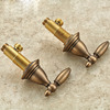 Antique Brass Split Style Two Bullet Shaped Handle Bathroom Faucet