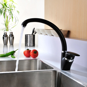 modern rotatable black most reliable kitchen sink faucets - Kitchen Sink Faucets