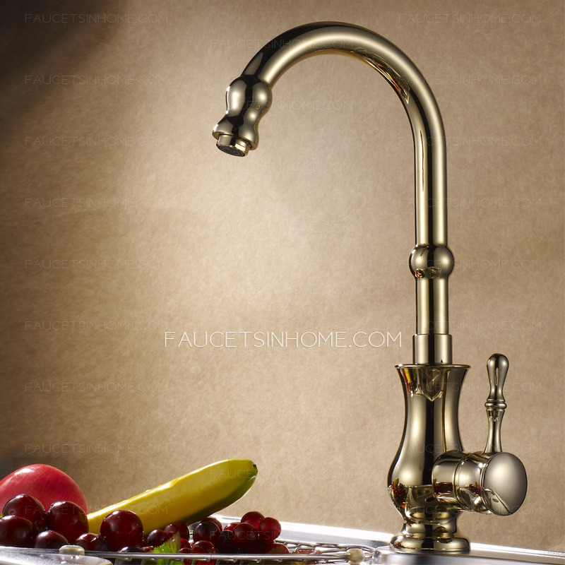 Antique Polished Brass  Kitchen Faucet